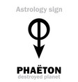 astrology destroyed planet pha vector image vector image
