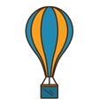 balloon air hot fly isolated icon vector image