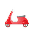 beautiful colored two-wheeled scooter servants for vector image vector image