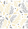 beautiful seamless pattern with branches and snowf vector image vector image