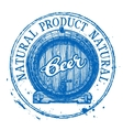 Beer ale logo design template Shabby vector image