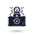 Black and white camera icon vector image vector image