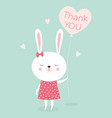 bunny thank you vector image