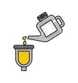 canister pouring paint renovation maintenance car vector image vector image