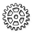 cartoon image of gear icon flat vector image vector image