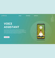 character voice assistant listens to user commands vector image vector image