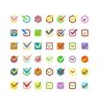 Check vote icon button vector image