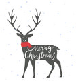 christmas deer background vector image vector image