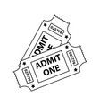 cinema tickets icon vector image vector image