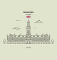 city hall in bradford vector image vector image