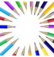 color pencils in round shape with copyspace for vector image