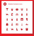 container icons vector image vector image