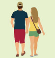 couple walking away vector image vector image