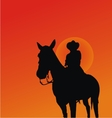 Cowboy Silhouettes vector image vector image