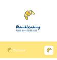 creative bun logo design flat color logo place vector image vector image