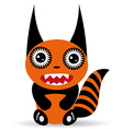 Cute cartoon Monster on a white background vector image vector image