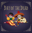 day of the dead mexican holiday poster vector image vector image