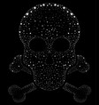 design for t-shirt print with skull and textures vector image vector image