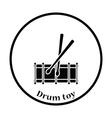 Drum toy icon vector image vector image