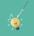 fishhook with idea lightbulb vector image