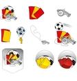 Football Items Symbols Set vector image vector image