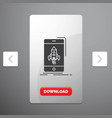 game gaming start mobile phone glyph icon in vector image vector image