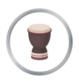 Goblet drum icon in cartoon style isolated on vector image