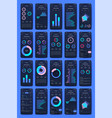 graphics set mobile infographics stock vector image