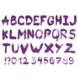 Hand drawn gouache alphabet vector image vector image