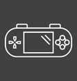 handheld game console line icon controller vector image vector image