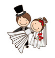 happy couple married icon vector image vector image