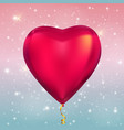 heart shape colour glossy helium balloons on vector image