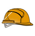 helmet side view colored crayon silhouette vector image vector image