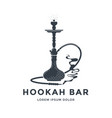 hookah logo or emblem design shisha lounge bar vector image