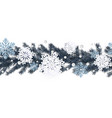 horizontal seamless winter background with vector image vector image