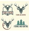 hunting and fishing vintage set vector image