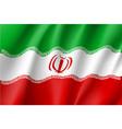 iran national flag vector image vector image