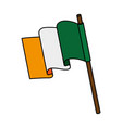 ireland flag isolated icon vector image vector image