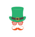 irishman with glasses shutter shades on white vector image vector image