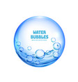 isolated blue transparent water bubbles vector image vector image