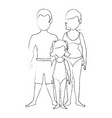 isolated cute beach family vector image