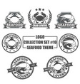 logo collection set with seafood theme vector image vector image