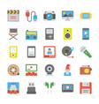 media and entertainment flat icons vector image
