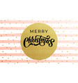 merry christmas calligraphy lettering with golf vector image vector image
