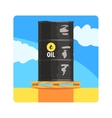 Oil Barrel Famous Touristic Attraction Of United vector image vector image