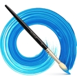 paintbrush with blue brush stroke vector image vector image