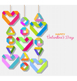 paper origami Valentine vector image vector image