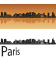 Paris V2 skyline in orange vector image vector image