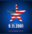 patriot day of usa with star in national flag vector image vector image