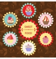 Pattern of Sweet Food - vector image vector image